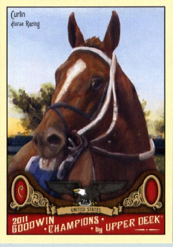 2011 Upper Deck Goodwin Champions #81 Curlin / Horse Racing - Trading Card In a Protective Screwdown Case
