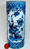 Imari Birds Blue and White Porcelain Umbrella Stand 24''