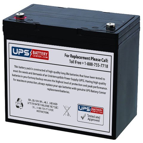 12V 55Ah IT - UPSBatteryCenter battery for Werker WKA12-55C/FR by UPS Battery Center