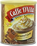 Caffe D'Vita Caramel Latte Blended Iced Coffee, 19-Ounce Cans (Pack of 6)