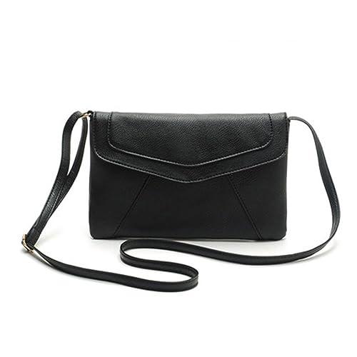 a55baae67d172 ZOONAI Womens Small Leather Envelope Crossbody Shoulder Bag Purse ...