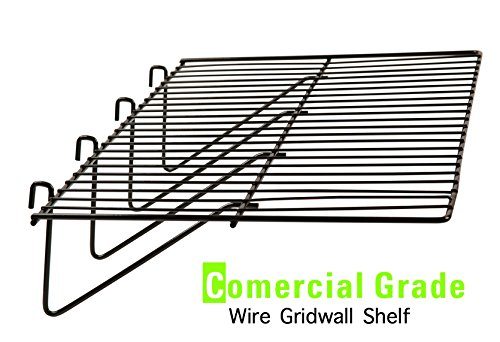 Gridwall Shelf - Gridwall Panel Display Shelf - Only Garment Racks - Clothing Display Rack Grid, Heavy Duty Shelf, 12