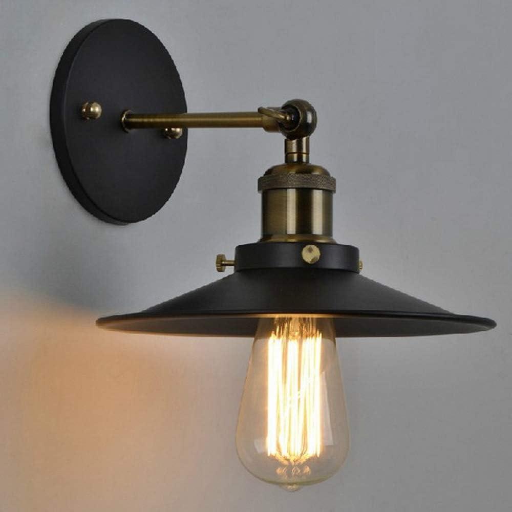 Rustikal Schwarz Eisen Beleuchtung f/ür Schlafzimmer Scheune Wohnzimmer Loft LynPon 2er Pack Wandleuchte Industrial Wandlampe Dimmbar Vintage Wand Leuchte