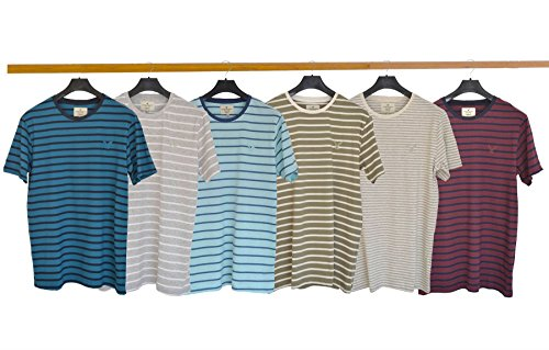 American Eagle Mens Stripe T Shirt Blue Medium -