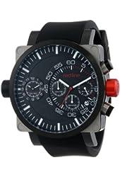 red line Men's RL-50048-SS-BB-01-BK Dual Timer Chronograph Black Dial Black Silicone Watch