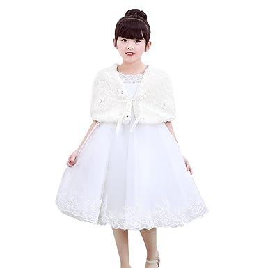 f62f0c7cc994e 5-7歳女の子ボレロカーディガン ボレロ 花飾り 子供ケープ 子供ドレス フォーマル 女の子