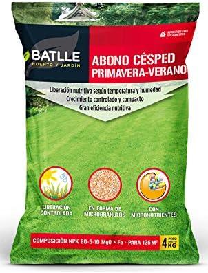 Abonos - Fertilizante Cesped Primavera-Verano Saco 4kg - Batlle: Amazon.es: Jardín