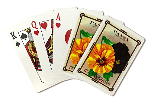 Pansy Seed Packet (Playing Card Deck - 52 Card Poker Size with Jokers)