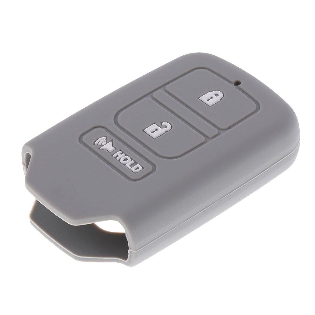 B Blesiya 3 Buttons Car Key Silicone Protective Case Cover for Honda/CR/V/XR-V - Grey by B Blesiya (Image #1)