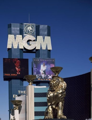 Vintography Professionally Reproduced Photo: MGM Grand Hotel,Casino,Theme Park,Las Vegas,Nevada,NV,Carol Highsmith,1980-2006