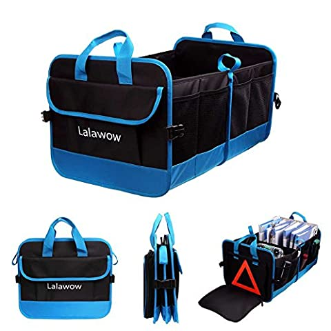 Lalawow Car Storage Box Polyester Foldable Trunk