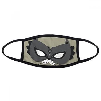 DIYthinker Máscara del Gato Negro Feliz Carnaval De Venecia Boca Cara máscara Anti-Polvo Anti