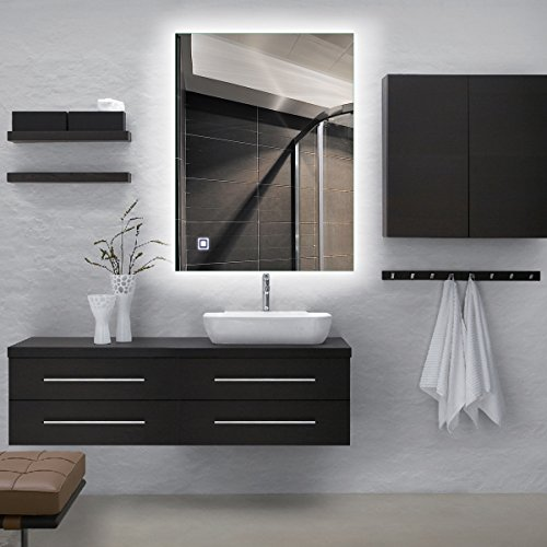 Alice Dimmable LED Backlit Mirror Illuminated Bathroom Mirror with Anti-fog Function and Touch Botton 32''x24'' by Alice