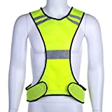 Reflective Running Night Jogging Vest - Elayce Safety Gear for Biking, Cycling, Walking for Men & Women Outdoor Protection