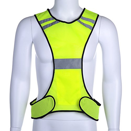 Reflective Running Night Jogging Vest - Elayce Safety Gear for Biking, Cycling, Walking for Men & Women Outdoor Protection by Elayce