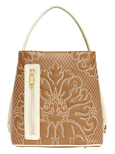 samoe-style-sandy-brown-and-cream-stitched-damask-classic-convertible-handbag