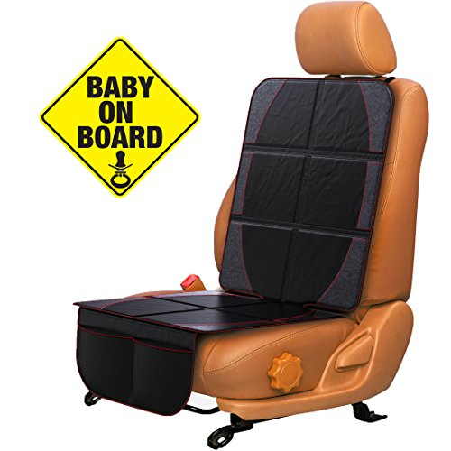 Car Seat Protector for Baby & Toddler by FORTEM | 100% Waterproof Very Thick & Durable Quality Backseat Cover | Protection Against Damage to Leather & Cloth Seats | Bonus Baby On Board Sticker (1)