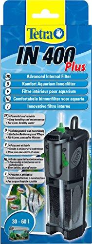 Tetra IN 400 plus  Innenfilter (zur biologischen und chemischen Filterung, stufenlose Regulierung der Durchflussgeschwindigkeit, geeignet für Aquarien mit 30 - 60 Liter)