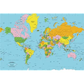 Academia maps world map wall mural detailed satellite image blue academia maps world map wall mural classic blue ocean map premium self adhesive fabric gumiabroncs Image collections