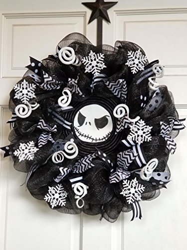 Custom Nightmare Before Christmas Deco Mesh Wreath 20