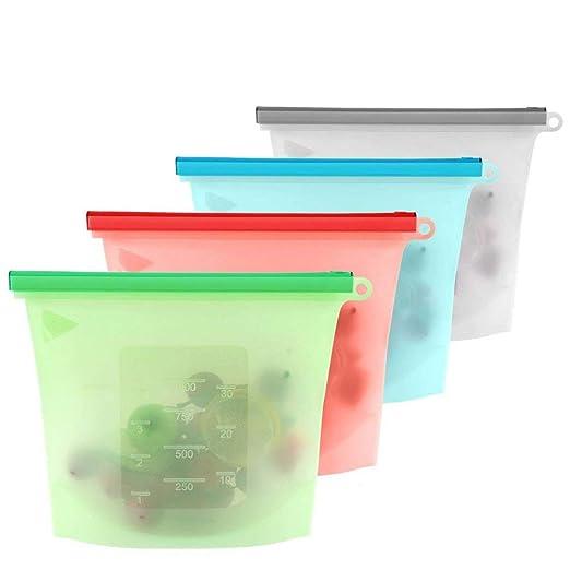 Bolsas de silicona reutilizables, Bolsas de almacenamiento de ...