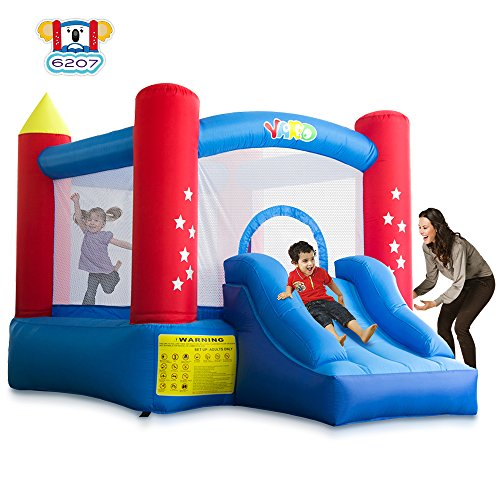YARD Indoor Outdoor Bounce House with Slide Blower for Kids (6207) (Indoor Inflatable Bouncer)