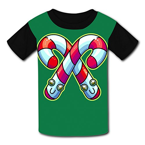 100% Cotton New Unique Tshirt 3D Make Custom With Candy Cane For Unisex Kids ()