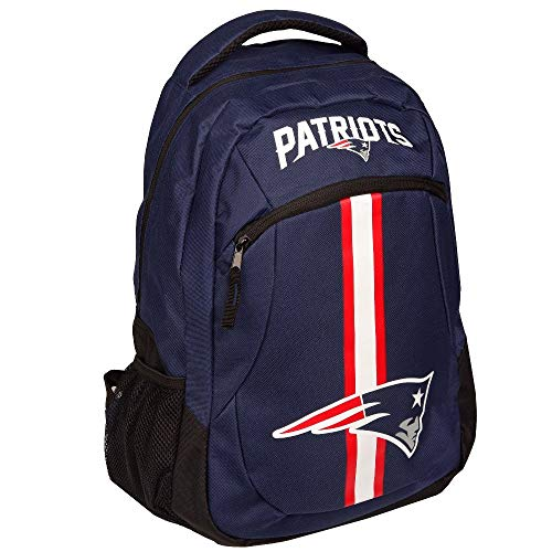 Forever Collectibles NFL New England Patriots Action Backpack, Team Color, One Size