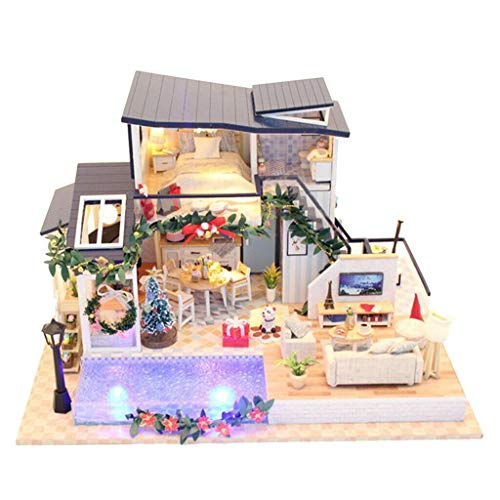 - NATFUR 1/24 Scale DIY Wooden Dolls House Furniture Kit with LED - Mermaid Tribe