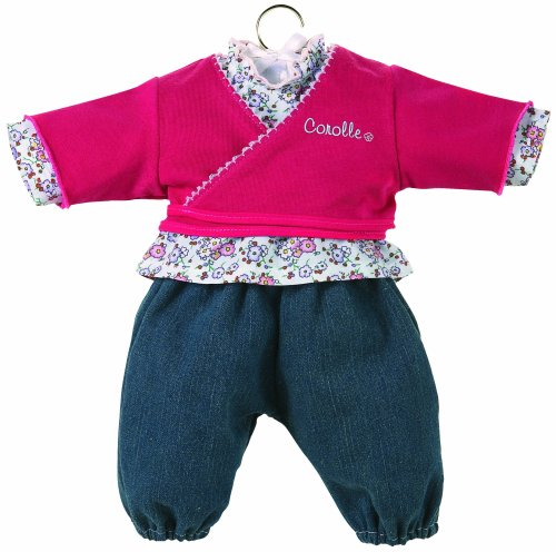 Corolle Classic Baby Doll 17-inch Fashion Jeans and Wrap Top Set 17 Inch Classic Baby Doll