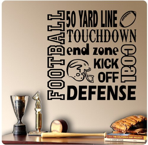 Amazon Com Football Sayings Wall Decal Sticker Art Mural Home D Cor Quote Home Kitchen