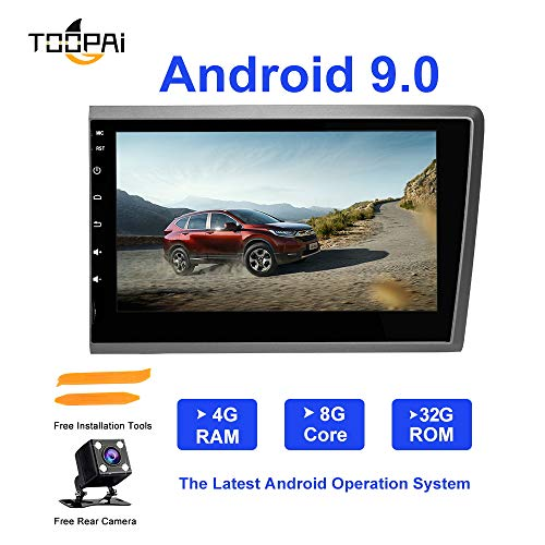 (Android Car Radio Stereo,TOOPAI for Volvo S60 V70 XC70 2000-2004 Head Unit Android 9.0 Octa Core 4G RAM 32G ROM 7 Inch Capacitive HD Screen Auto Stereo GPS Radio with Free Rear View Camera)