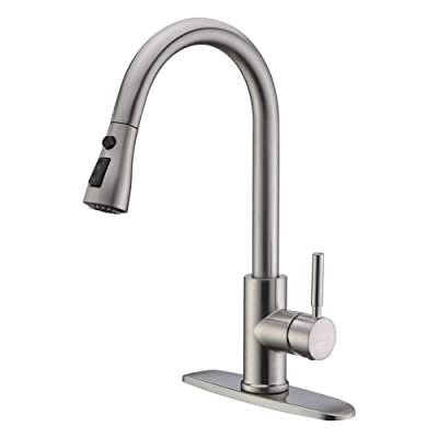 WEWE Brushed Nickel Pull Out Faucet
