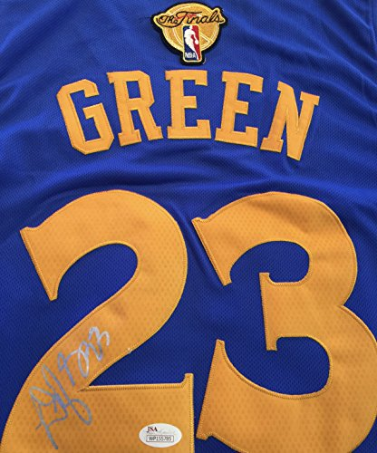 Draymond Green GSW Signed Blue Jersey JSA WP Certified Autographed NBA Jersey by Draymond Green