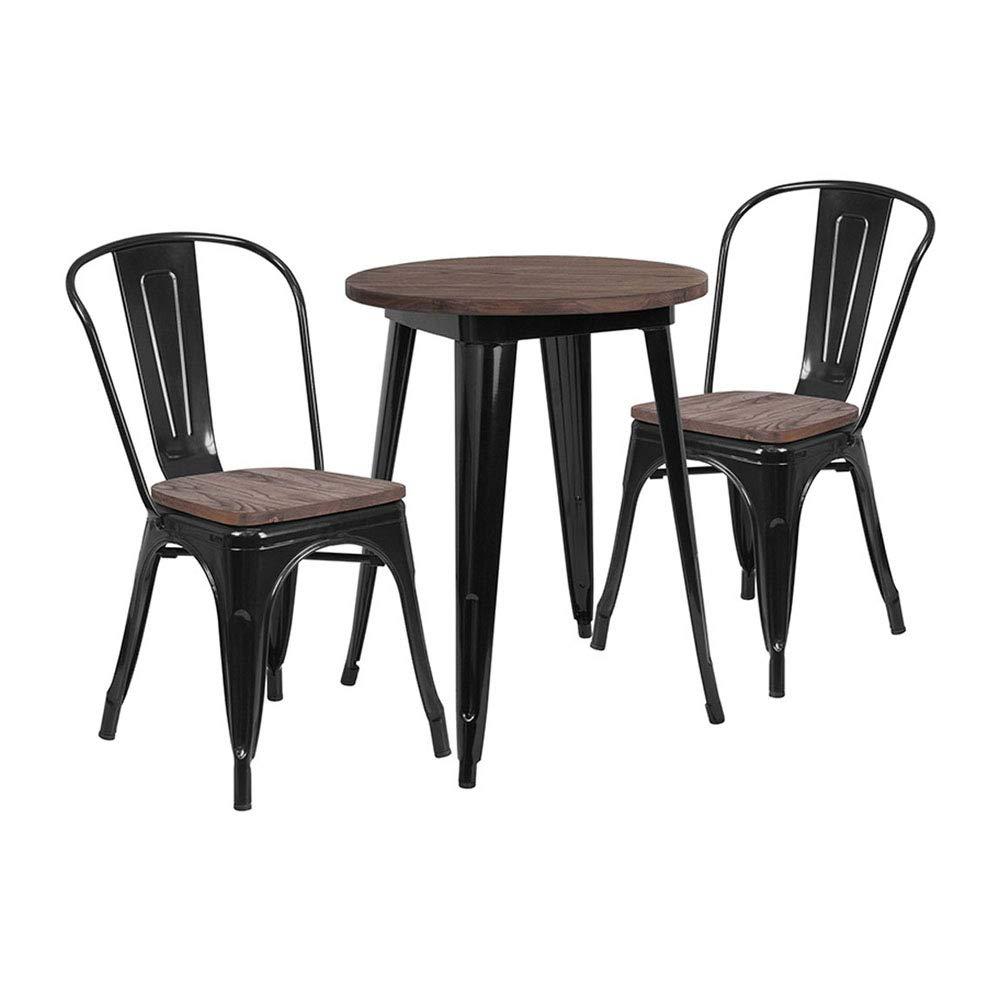 Amazon.com: Flash Furniture - Juego de mesa redonda de metal ...