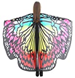 Butterfly Wings Adult Halloween Party Shawl Christmas Colorful Costume Accessory Belly Dancing Cape