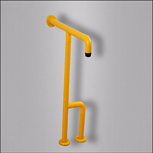 HQLCX Handrail Accessible Handrails Barrier Free Corridors Toilets Toilets Handrails Disabled People Anti Slip Handrails,Yellow by HQLCX-Handrail