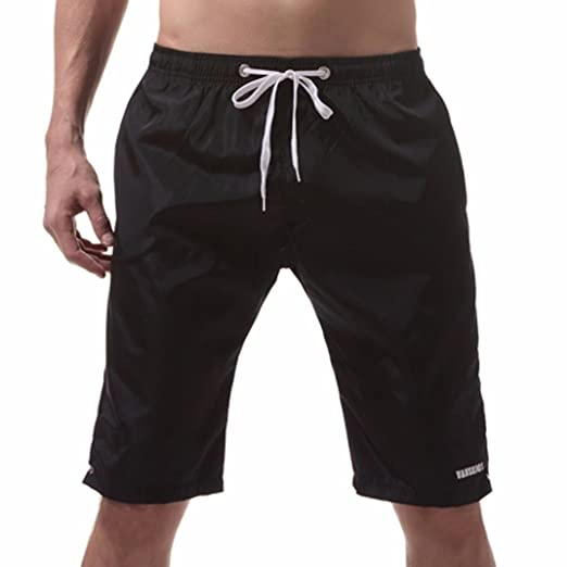 a961f7bca5 Perman Men Shorts, Summer Beach Quick Dry Swim Trunks Solid Knee ...