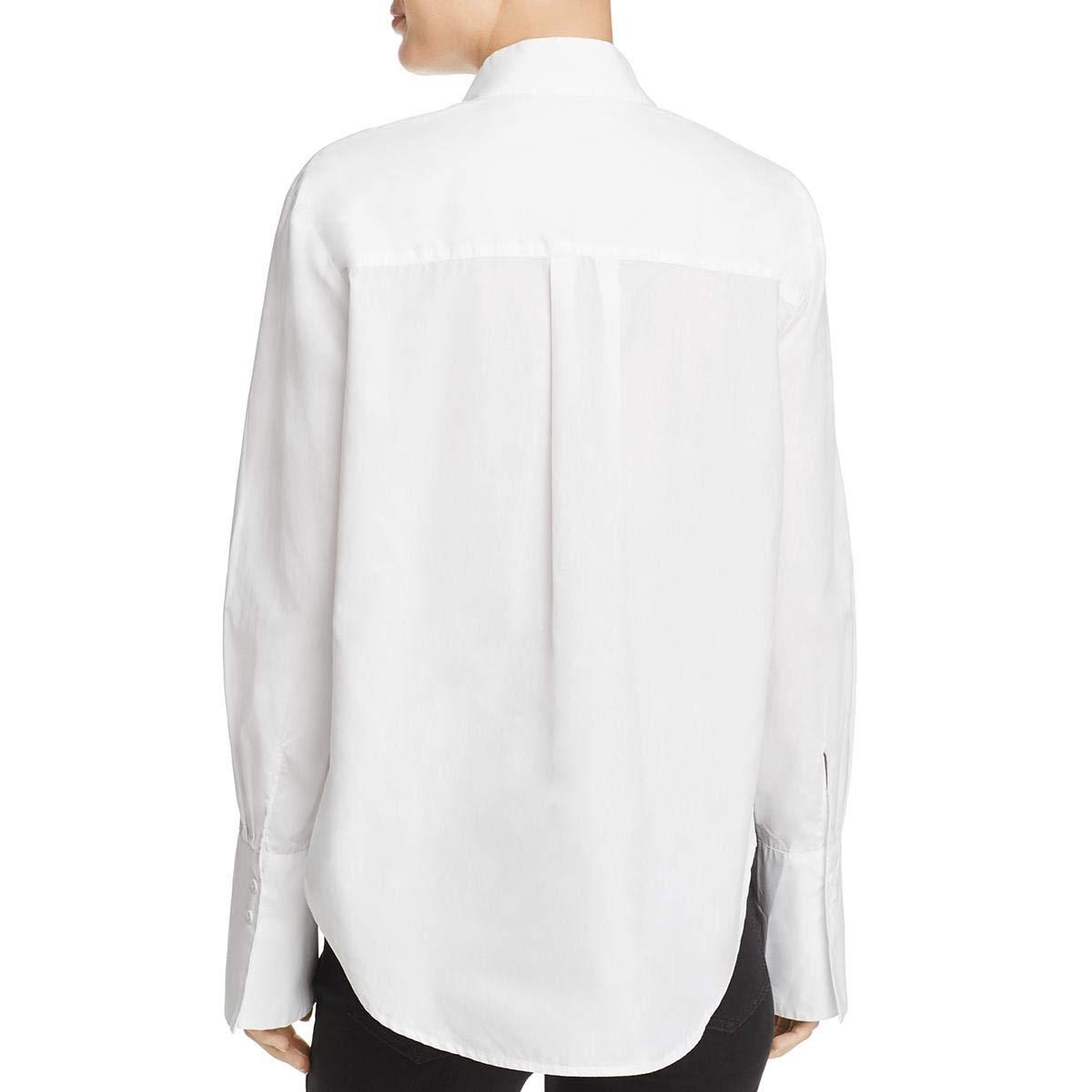 Frame Womens Cotton Ruffled Blouse