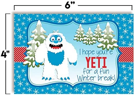 """Have A Great Winter Break Themed Blank Postcards For Teachers To Send To Students, 4""""x6"""" Fill In Notecards (6 other designs) by way of AmandaCreation (30)"""