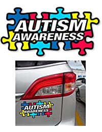Take 1 Autism Awareness Puzzle Piece Car Truck Bumper Magnet Refrigerator Decal New ! dispense