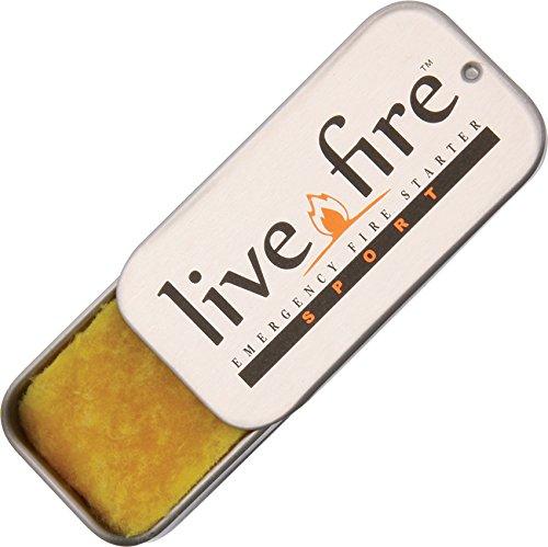 LIVE FIRE Men's Sport Fire Starter, Silver, Medium