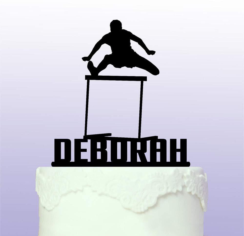 Personalised Hurdles Athlete Cake Topper