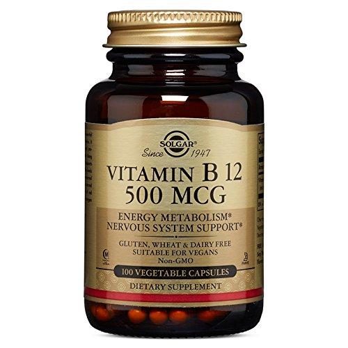 500 Mcg Folic Acid (Solgar Vitamin B12 Vegetable Capsules, 500 mcg, 100)