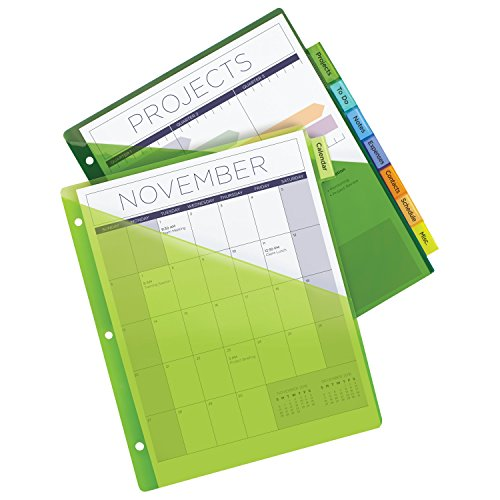 Free shipping avery big tab insertable plastic dividers for Office depot divider templates
