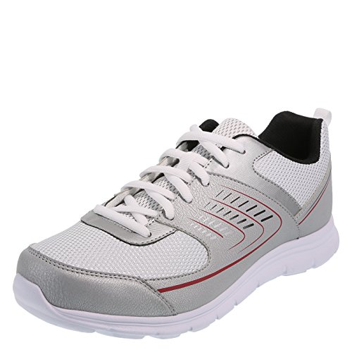 Cross Trekkers Silver Men's Shuffle Runner 9 Wide (Trekker Sneaker)