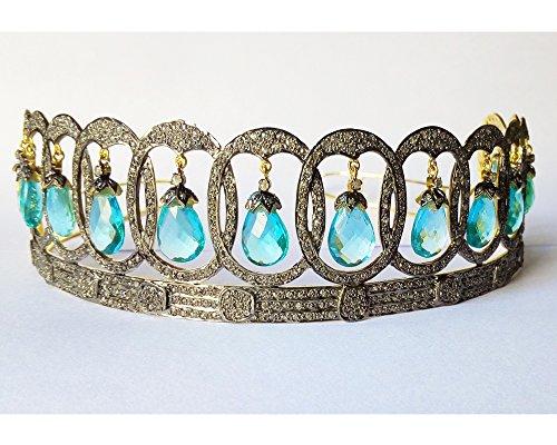 Truly incredible Pave Rose Cut Diamond Tiara - Wedding Rose Cut Diamond Crown - 925 Sterling Silver Tiara Crown - Diamond 925 Silver Tiara - Handmade Tiara - Hair Jewelry by Vinita Jewels