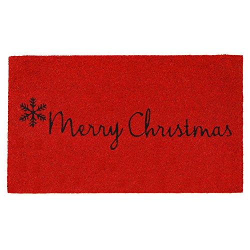 Calloway Mills 101781729 Red Merry Christmas Doormat, 17 x 29, Black
