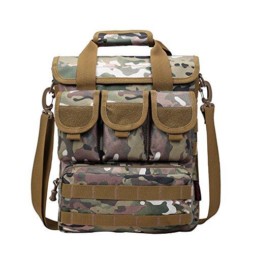 Camping aire Senderismo Casual Escalada libre táctico militar portátil Camo Bolsa Italy negro Yeshi al hombro camuflaje de Crossbody para FOx5n156