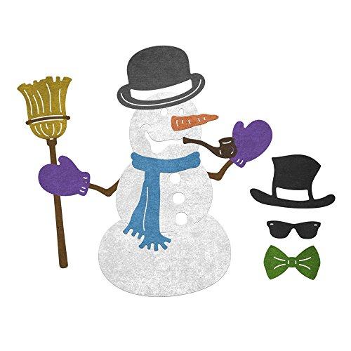 Cheery Lynn Designs B844 Build A Snowman 13 Piece Die Set